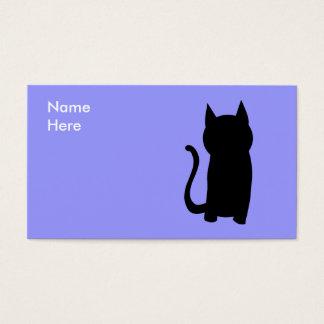 Cartes De Visite Silhouette se reposante de chat noir