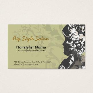 Cartes De Visite Silhouette vintage victorienne de femme de cheveux