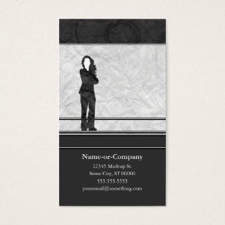 Cartes De Visite silhouettes d'affaires