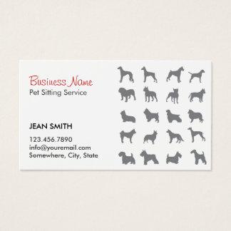 Cartes De Visite Silhouettes se reposantes de chiens d'animal