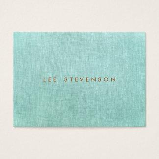 Cartes De Visite Simple, bleu de turquoise, regard de toile,