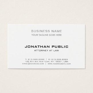 Cartes De Visite Simple élégant moderne d'avocat professionnel de