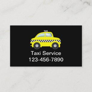 Cartes De Visite Simples Taxi