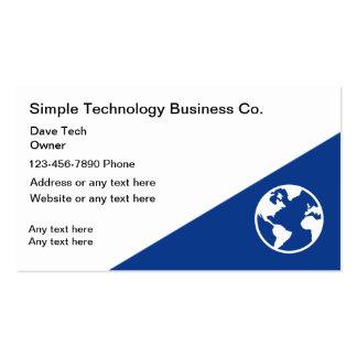 Cartes de visite simples de technologie modèle de carte de visite