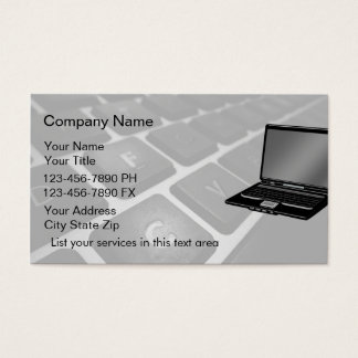 Cartes de visite simples d'ordinateurs