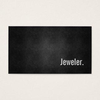 Cartes De Visite Simplicité noire fraîche en métal de bijoutier