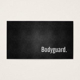 Cartes De Visite Simplicité noire fraîche en métal de garde du
