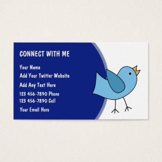 Cartes de visite sociaux de mise en réseau