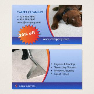 Cartes De Visite société de nettoyage de tapis