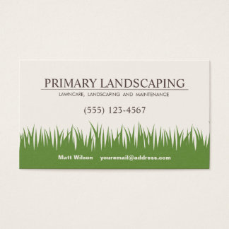 Cartes De Visite Soin de pelouse aménageant l'herbe en parc de