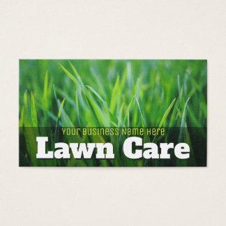 Cartes De Visite Soin de pelouse. Aménagement de promotionnel
