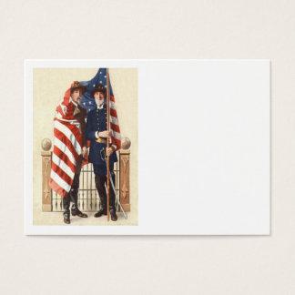 Cartes De Visite Soldat confédéré des syndicats de drapeau des USA