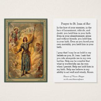 Cartes De Visite Soldat d'anges de St Jeanne d'Arc St Michael