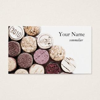 Cartes De Visite Sommelier de vinification de texture de lièges