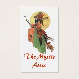 Cartes De Visite Sorcière d'automne