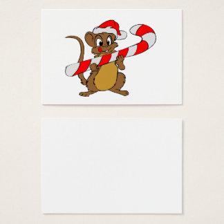Cartes De Visite Souris de Noël-Sucrerie