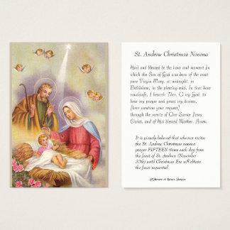 Cartes De Visite St Joseph, mère Mary, bébé Jésus, anges saints