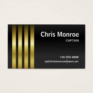 Cartes De Visite Stripes de capitaine