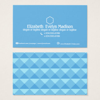 Cartes De Visite Style abstrait 0001 de polygone