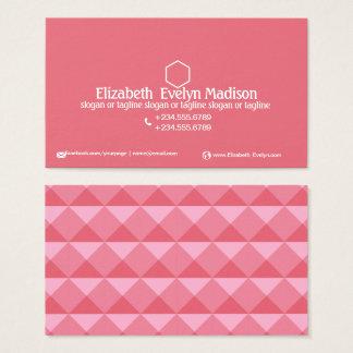 Cartes De Visite Style abstrait 0002 de polygone