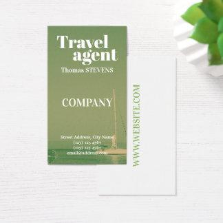 Cartes De Visite Style de touristes d'agent de voyage