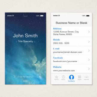 Cartes De Visite Style plat générique simple d'UI - unique conçu