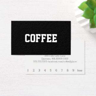 Cartes De Visite Superstar simple de café des textes centré