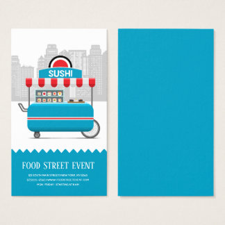 Cartes De Visite Sushi de nourriture de rue