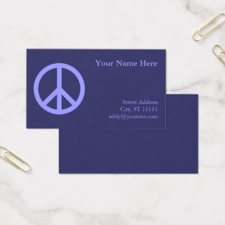 Cartes De Visite Symbole de paix bleu