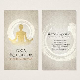 Cartes De Visite Symbole élégant de ZEN d'instructeur de méditation