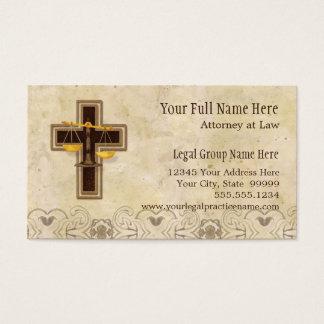 Cartes De Visite Symbole juridique de chrétien de pratique en