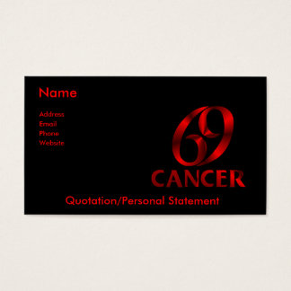 Cartes De Visite Symbole rouge d'horoscope de Cancer