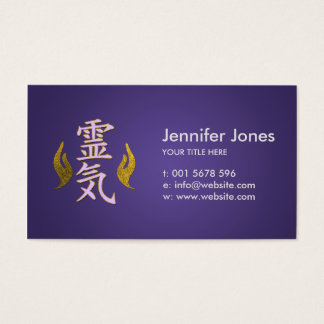 Cartes De Visite Symboles curatifs de Reiki