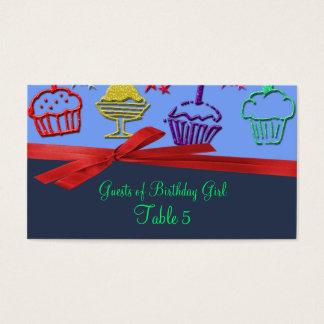 Cartes De Visite Tableau de surprise de festin de petit gâteau