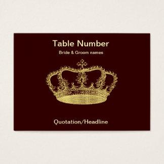 Cartes De Visite Tableau d'or Placecard de réception de couronne
