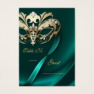 Cartes De Visite Tableau orné de bijoux turquoise PlaceCard de