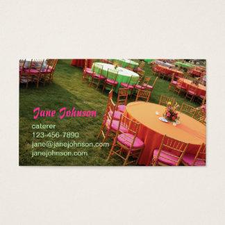 Cartes De Visite tables extérieures de partie