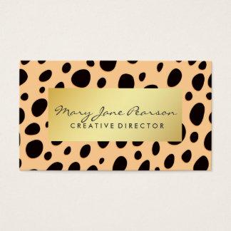 Cartes De Visite Taches noires Luxe de guépard de pêche d'or