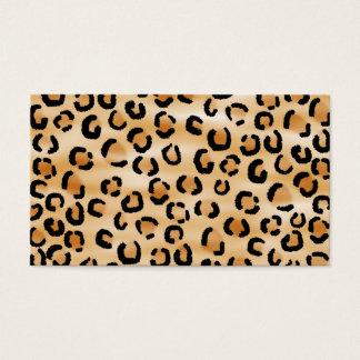 Cartes De Visite Tan, noir et modèle d'empreinte de léopard de
