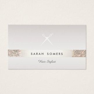 Cartes De Visite Taupe de paillette d'argent de FAUX de logo de