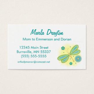 Cartes De Visite Télécarte de maman - papillon et fleurs de ressort