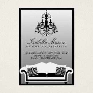 Cartes De Visite Télécarte élégante de maman de zèbre