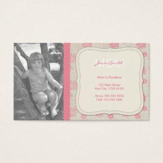 Cartes De Visite Télécarte faite sur commande de photo de maman