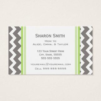 Cartes De Visite Télécartes grises de maman de Chevron de chaux