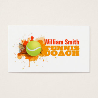Cartes De Visite Tennis Coach