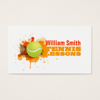 Cartes De Visite Tennis Lessons