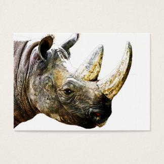 Cartes De Visite Tête de rhinocéros, arrière - plan blanc