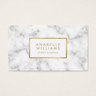 Cartes De Visite Texture à la mode de marbre et d'or de Faux