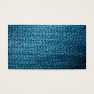 Cartes De Visite Texture bleue de jeans de denim pour l'arrière -