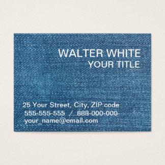 Cartes De Visite Texture de jeans